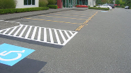 Reserved and Visitor Parking Line Painting