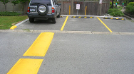 Speed Bumps in Commercial Parking Lot in South Surrey