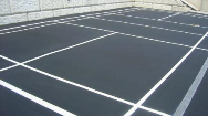 Line Striping on Pavement Badminton Court