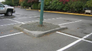Concrete Island Curb Repairs for Golf Course in Surrey BC